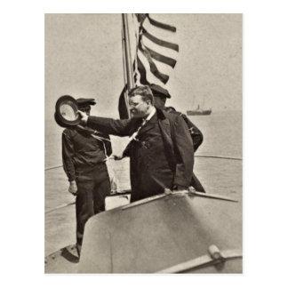 Präsident Teddy Roosevelt auf Postkarte