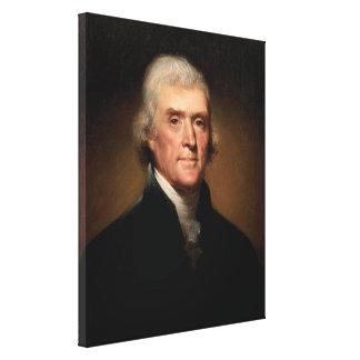 Präsident Thomas Jefferson Leinwanddruck