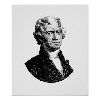 Präsident Thomas Jefferson Poster