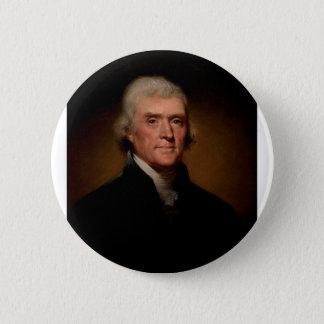 Präsident Thomas Jefferson Runder Button 5,7 Cm