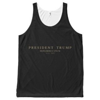 Präsident Trump. Deploribus Unum. Komplett Bedrucktes Tanktop