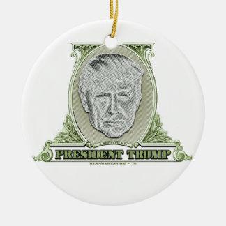 Präsident Trump Dollar Keramik Ornament