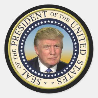 Präsident Trump Foto Presidential Seal Runder Aufkleber