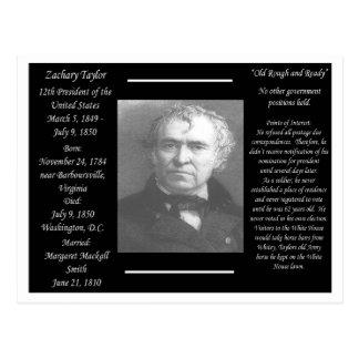 Präsident Zachary Taylor Postkarte