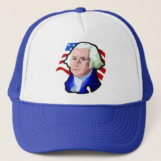 Präsidenten Day, George Washington und USA-Flagge Truckerkappe