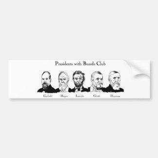 Präsidenten mit Bart-Verein-Autoaufkleber Autoaufkleber