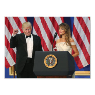 Präsidenten-u. First Lady-Trumpf an der Einweihung Karte