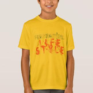 PRÄSIDENTENLEBENSSTILS-ORANGEN-BUCHSTABEN T-Shirt