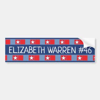 Präsidentschaftswahl ELIZABETH WAREN #46 Autoaufkleber
