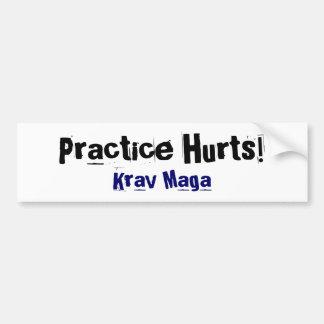 Praxis verletzt Krav Maga Autoaufkleber