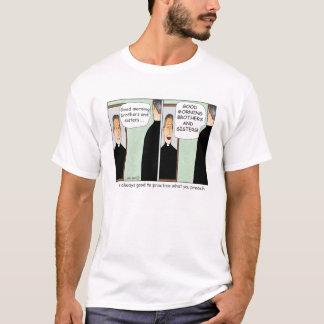 Praxis, was Sie Cartoon-T - Shirt predigen