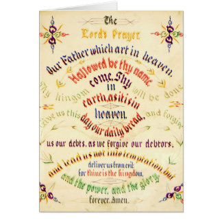 Prayer Calligraphy 1889 Lords Karte