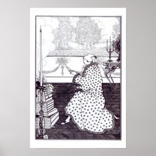 """Prayer des Barons, """"vom Raub des Verschlusses"""", b Plakatdruck"""