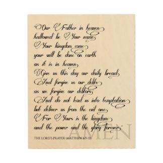 Prayer des Lords auf Holz Holzdruck