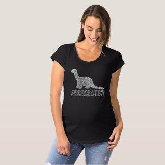 Pregosaurus niedlicher Schwangerschaft Annoucement Schwangerschafts T-Shirt