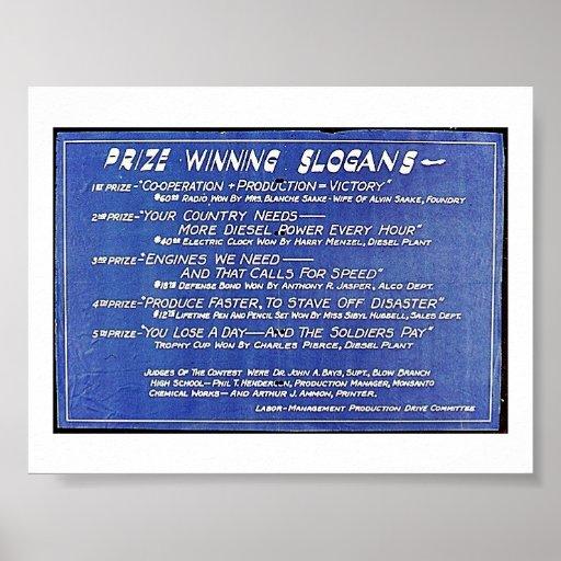 Preis-gewinnende Slogans Plakat