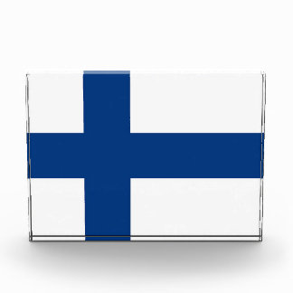 Preis mit Flagge von Finnland