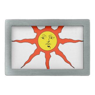 Preisen Sie das Sun-Logo Rechteckige Gürtelschnallen