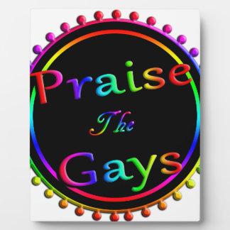 Preisen Sie die Homosexuellen Fotoplatte
