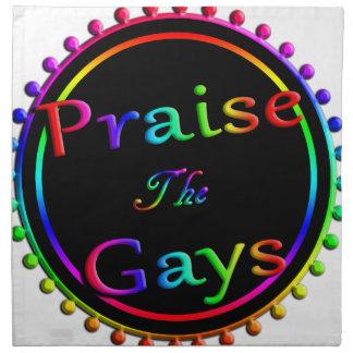 Preisen Sie die Homosexuellen Serviette
