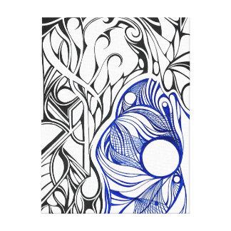 Prellung - eine geometrische Abstraktion Leinwanddruck