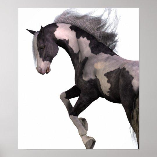 "Premium Poster Leinwand Kunstdruck ""Wilde Horse"""