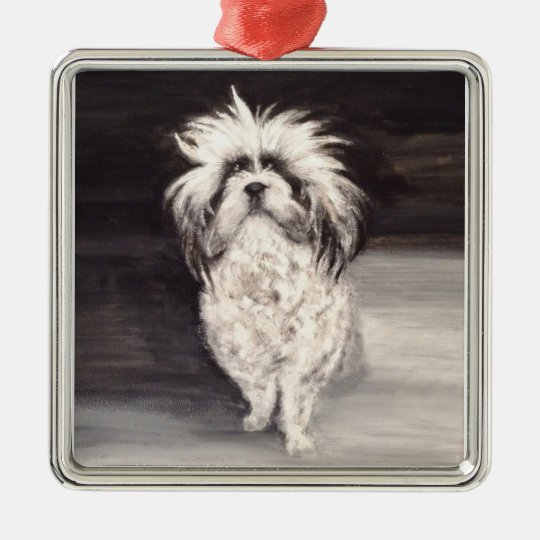 "Premium Quadrat Ornament ""Portrait Hund"""