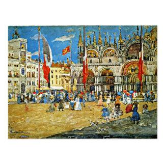 Prendergast: St Mark, Venedig-Stadtbilds Postkarten