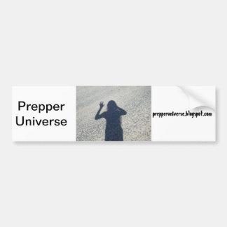 Prepper Universum-Schatten Autoaufkleber