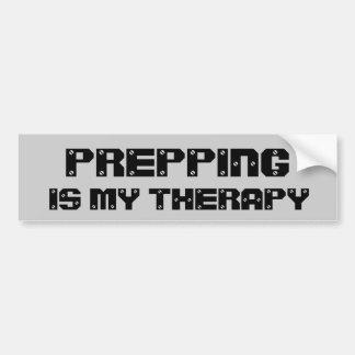 Prepping ist meine Therapie Autoaufkleber