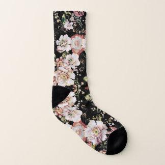 Preppy böhmisches Land-Shabby Chicschwarzes mit Socken