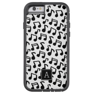 Preppy Gekritzel-Musiknoten-Monogramm Tough Xtreme iPhone 6 Hülle