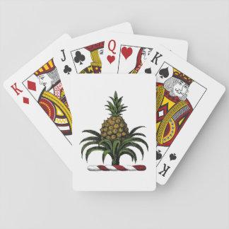 Preppy heraldische Ananas-Wappen-Farbe RWT Spielkarten