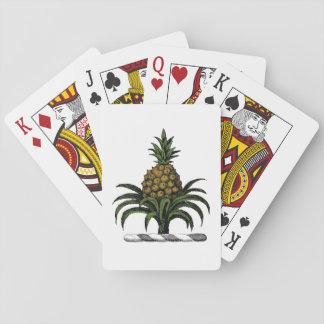 Preppy heraldisches Ananas-Wappen-Farbe-GEWICHT Spielkarten