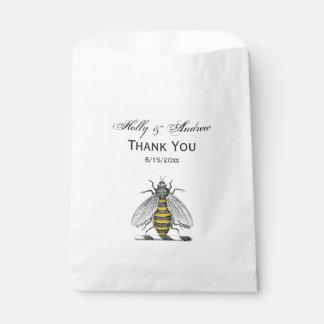 Preppy heraldisches Vintages Bienen-Wappen Emblem Geschenktütchen