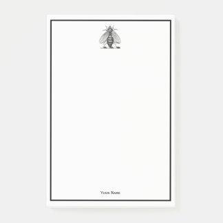 Preppy heraldisches Vintages Bienen-Wappen Emblem Post-it Klebezettel