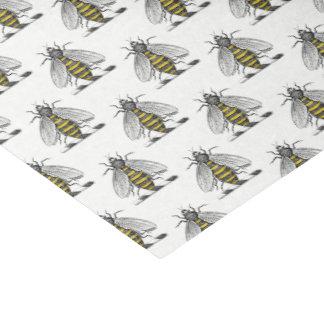 Preppy heraldisches Vintages Bienen-Wappen Emblem Seidenpapier