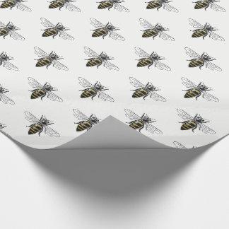 Preppy heraldisches Vintages Wappen der Bienen-#2 Geschenkpapier