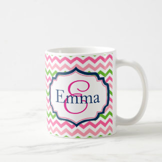 Preppy Monogramm-Kaffee-Tasse Kaffeetasse