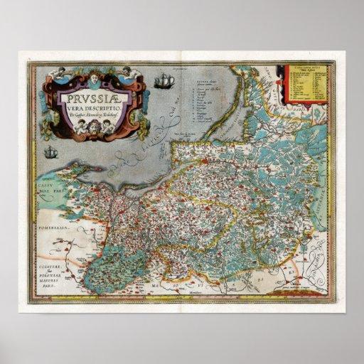 Preußen-Karte 1584 Poster