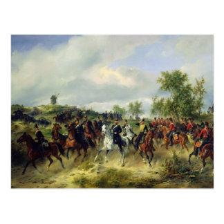 Preussische Kavallerie auf Expedition, c.19th Postkarte