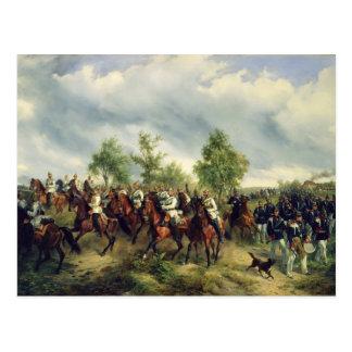 Preussische Kavallerie auf Expedition Postkarte