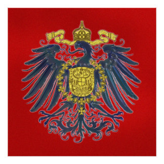 Preussisches Eagle-Plakat Poster