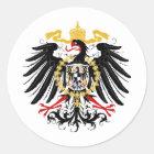 Preussisches rotes Schwarzes und Gold Eagles Runder Aufkleber