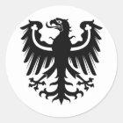 Preussisches schwarzes OstEagle Runder Aufkleber