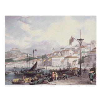 Pria groß, Macao, c.1850 (Farbelitho) Postkarte