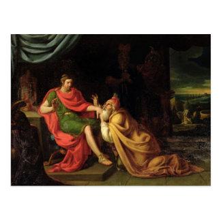 Priam und Achilleus Postkarte