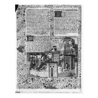 Priam, welches die Rekonstruktion von Troja Postkarte