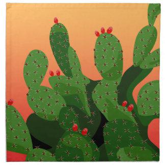 Prickly Pear Cactus Desert Sunset Napkin Stoffserviette