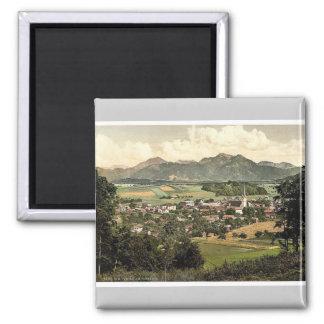 Prien auf Chiemsee, oberes Bayern, Deutschland Quadratischer Magnet